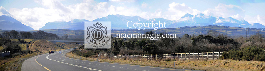 The N22 main road from Tralee to Killarney with a panoramic view of the McGillycuddy Reeks in the background..Picture by Don MacMonagle