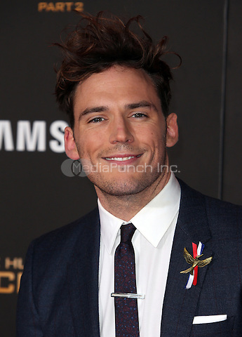"""Los Angeles, CA - November 16 Sam Claflin Attending Premiere Of Lionsgate's """"The Hunger Games: Mockingjay - Part 2"""" At Microsoft Theater On November 16, 2015. Photo Credit: Faye Sadou / MediaPunch"""