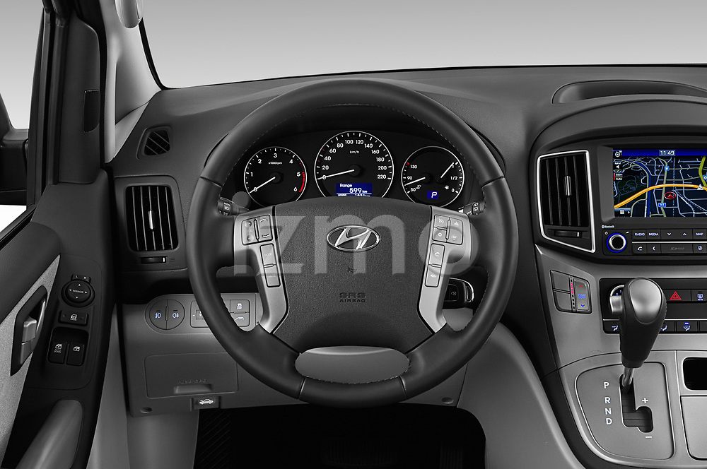 Car pictures of steering wheel view of a 2019 Hyundai H1-People Executive 5 Door Mini Van
