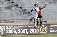 BERKELEY, CA - November 16, 2014: The Stanford Cardinal vs Cal Bears men's soccer match in Berkeley, California. Final score, Stanford 3, Cal 2 in 2OT.