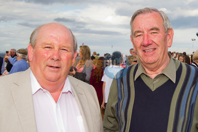 George King (Julianstown) and Jimmy Cudden (Duleek) at the Bellewstown Races..Picture: Shane Maguire / www.newsfile.ie.