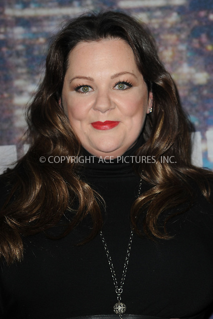 WWW.ACEPIXS.COM<br /> February 15, 2015 New York City<br /> <br /> Melissa McCarthy walking the red carpet at the SNL 40th Anniversary Special at 30 Rockefeller Plaza on February 15, 2015 in New York City.<br /> <br /> Please byline: Kristin Callahan/AcePictures<br /> <br /> ACEPIXS.COM<br /> <br /> Tel: (646) 769 0430<br /> e-mail: info@acepixs.com<br /> web: http://www.acepixs.com