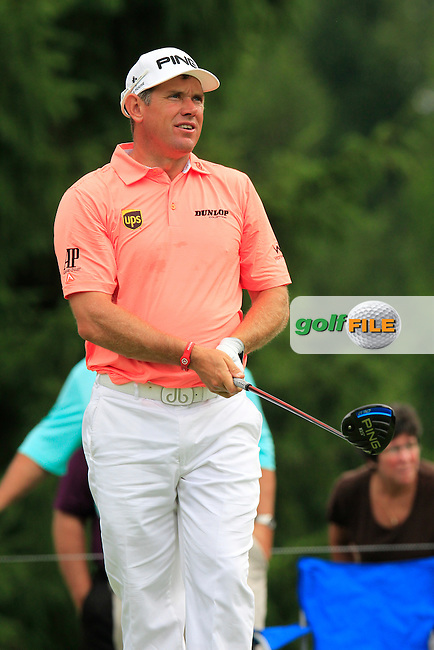 Lee WESTWOOD (ENG) tees off the 4th tee during Saturday's Round 3 of the WGC Bridgestone Invitational, held at the Firestone Country Club, Akron, Ohio.: Picture Eoin Clarke, www.golffile.ie: 2nd August 2014