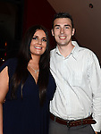 Emily Healy celebrating her 21st birthday in the Thatch with boyfriend David Beakey. Photo:Colin Bell/pressphotos.ie