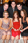 SPIRIT: Getting into the spirit of things at the  ITT Ball at the Earl of Desmond Hotel on Friday evening were, Front Row: Mary Sayers, Ciara Tierney and Denise Shanahan. Back Row: Jim Morris, Jamie Wren, Kieran Murphy. .