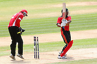 Belgium (batting) vs Gibraltar - Pepsi ICC Europe Division Two T20 Cricket at the Essex County Ground, Chelmsford - 23/06/14 - MANDATORY CREDIT: Gavin Ellis/TGSPHOTO - Self billing applies where appropriate - 0845 094 6026 - contact@tgsphoto.co.uk - NO UNPAID USE
