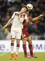 Spain's Cesar Azpilicueta (r) and Germany's Durm during international friendly match.November 18,2014. (ALTERPHOTOS/Acero) /NortePhoto<br /> NortePhoto.com