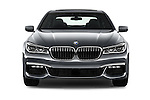 Car photography straight front view of a 2016 BMW 7 Series M Sport 4 Door Sedan Front View