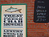 ENGLAND, Brighton, Crab Sandwiches Sign