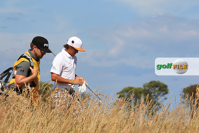 Rickie FOWLER (USA) during round one of  The 142th Open Championship Muirfield, Gullane, East Lothian, Scotland 18/7/2013<br /> Picture Eoin Clarke www.golffile.ie: