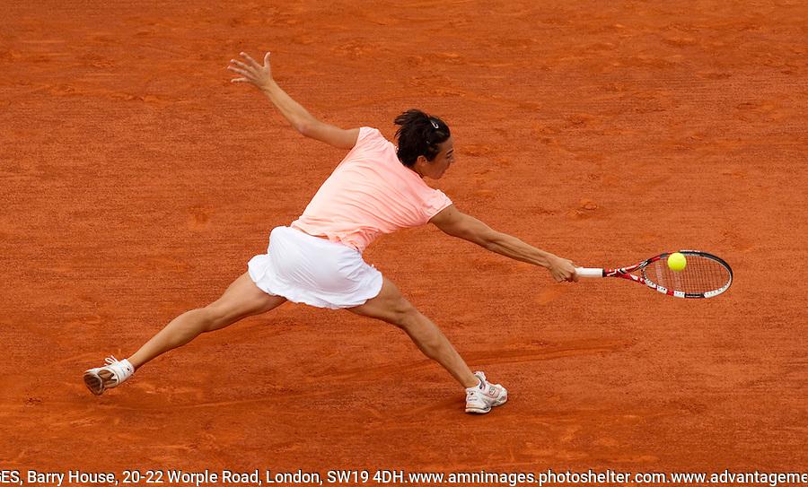 FRANCESCA SCHIAVONE (ITA) (5) against NA LI (CHN) (6) in the Final of the Women's Singles. Na Li beat Francesca Schiavone 6-4 7-6..Tennis - Grand Slam - French Open - Roland Garros - Paris - Day 14 -  Sat June 4th  2011..© AMN Images, Barry House, 20-22 Worple Road, London, SW19 4DH, UK..+44 208 947 0100.www.amnimages.photoshelter.com.www.advantagemedianetwork.com.