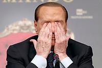 Silvio Berlusconi si strofina gli occhi<br /> Roma 13/12/2017. Tempio di Adriano. Presentazione del libro 'Soli al comando'.<br /> Rome December 13th 2017. Presentation of the book 'soli al comando'.<br /> Foto Samantha Zucchi Insidefoto