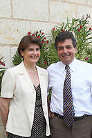 Denis Dubourdieu and his wife Florence bordeaux france