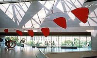 I.M. Pei: Washington, D.C. National Gallery, East Balcony. Calder Mobile.