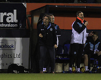 Wycombe Wanders manager Gareth Ainsworth spurs his team on during the Sky Bet League 2 match between Luton Town and Wycombe Wanderers at Kenilworth Road, Luton, England on 26 December 2015. Photo by Liam Smith.