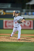 Ben Taylor (27) of the Reno Aces delivers a pitch to the plate against the Nashville Sounds at Greater Nevada Field on June 5, 2019 in Reno, Nevada. The Aces defeated the Sounds 3-2. (Stephen Smith/Four Seam Images)