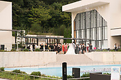 A wedding party at Higashiyama Botanic Gardens wedding chappel.