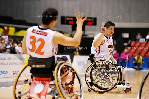 (L-R) Noriyuki Mori, Hiroaki Kozai (NO EXCUSE), <br /> MAY 4, 2017 - Wheelchair Basketball : <br /> Japan Wheelchair Basketball Championship<br /> semi-final match between NO EXCUSE - World BBC<br /> at Tokyo Metropolitan Gymnasium in Tokyo, Japan. <br /> (Photo by Yohei Osada/AFLO SPORT)