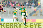 Dara Moynihan Kerry in action against Sean Raftery Galway in the All Ireland Minor Football Final in Croke Park on Sunday.