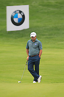 Richard Sterne (RSA) on the 9th green during Saturay's Round 3 of the 2014 BMW Masters held at Lake Malaren, Shanghai, China. 1st November 2014.<br /> Picture: Eoin Clarke www.golffile.ie