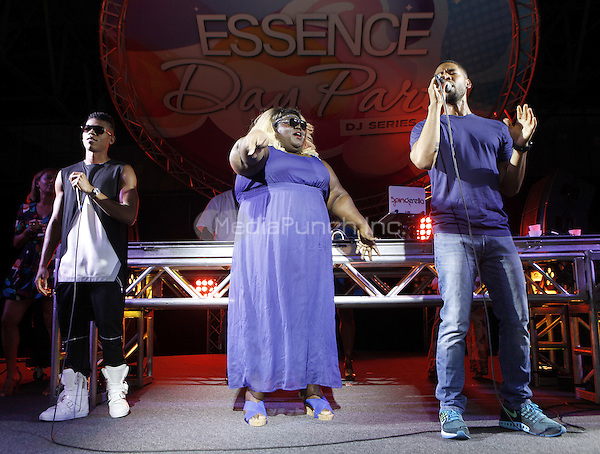 NEW ORLEANS, LA - JULY 4: Bryshere Y. Gray, Gabourey Sidibe, and Jussie Smollett at the Essence Day Party during the 2015 Essence Festival at Sugar Mill on July 4, 2015 in New Orleans, Louisiana. Credit: PGJJ/MediaPunch