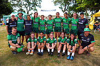 The Manawatu women's team. 2017 Bayleys Central Regional Sevens at Playford Park in Levin, New Zealand on Saturday, 9 December 2017. Photo: Dave Lintott / lintottphoto.co.nz