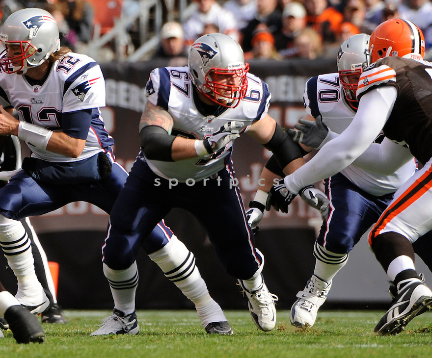 DAN KOPPEN, of the New England Patriots, in action during the Patriots game against the Cleveland Browns on November 7, 2010 at Cleveland Browns Stadium in Cleveland, Ohio.  ..The Browns beat the Patriots 34-14...