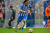 Matias Ezequiel Schelotto of Brighton & Hove Albion (21)  during the Premier League match between Brighton and Hove Albion and Chelsea at the American Express Community Stadium, Brighton and Hove, England on 20 January 2018. Photo by Edward Thomas / PRiME Media Images.