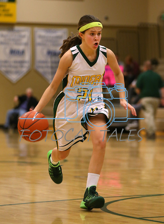 Manogue's Katie Turner competes against Galena at Manogue High School in Reno, Nev., on Tuesday, Feb. 11, 2014. Manogue won 51-29.<br /> Photo by Cathleen Allison