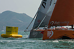 Teams in action during the in-port regatta as part the Volvo Ocean Race Leg 3 Abu Dhabi-Sanya stop-over on February 7, 2015 in Sanya, China. The Volvo Ocean Race 2014-15 is the 12th running of this ocean marathon. Starting from Alicante in Spain on October 11, 2014, the route, spanning some 39,379 nautical miles, visits 11 ports in 11 countries (Spain, South Africa, United Arab Emirates, China, New Zealand, Brazil, United States, Portugal, France, the Netherlands and Sweden) over nine months. The Volvo Ocean Race is the world's premier ocean race for professional racing crews. Photo by Victor Fraile / Power Sport Images