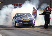 Oct 29, 2016; Las Vegas, NV, USA; NHRA pro stock driver Vincent Nobile during qualifying for the Toyota Nationals at The Strip at Las Vegas Motor Speedway. Mandatory Credit: Mark J. Rebilas-USA TODAY Sports