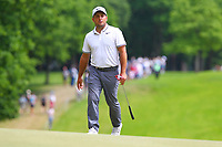 Francesco Molinari on the 1st green during the BMW PGA Golf Championship at Wentworth Golf Course, Wentworth Drive, Virginia Water, England on 28 May 2017. Photo by Steve McCarthy/PRiME Media Images.