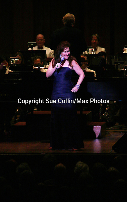 Debbie Gravitte performs Jerry Herman's Broadway with the National Symphony Orchestra at The John F. Kennedy Center for Performing Arts on March 14, 2009, in Washington D.C. (Photo by Sue Coflin/Max Photos)