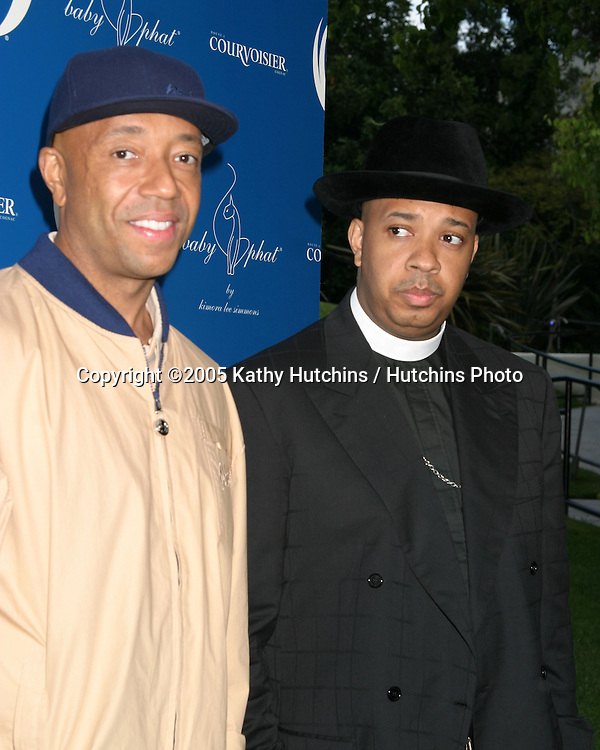 Russell Simmons.Reverend Run.WORK HARD... PLAY HARDER Lounge, .VIP party sponsored by Courvoisier.W Hotel.Westwood, CA.April 30, 2005.©2005 Kathy Hutchins / Hutchins Photo