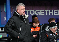 Blackpool's manager Terry McPhillips <br /> <br /> Photographer Andrew Kearns/CameraSport<br /> <br /> The EFL Sky Bet League One - Portsmouth v Blackpool - Saturday 12th January 2019 - Fratton Park - Portsmouth<br /> <br /> World Copyright &copy; 2019 CameraSport. All rights reserved. 43 Linden Ave. Countesthorpe. Leicester. England. LE8 5PG - Tel: +44 (0) 116 277 4147 - admin@camerasport.com - www.camerasport.com