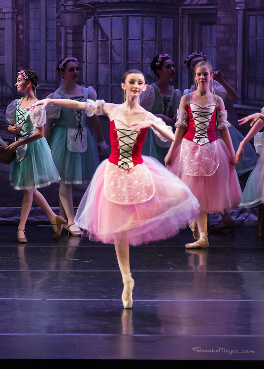 """Evening Performance of """"Coppelia"""", the Spring Gala production of Cary Ballet Company. Cary Arts Center, Saturday, 14 March 2015"""