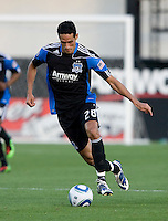 Andre Luiz of Earthquakes in action during the game against the Real Salt Lake at Buck Shaw Stadium in Santa Clara, California on March 27th, 2010.   Real Salt Lake defeated San Jose Earthquakes, 3-0.