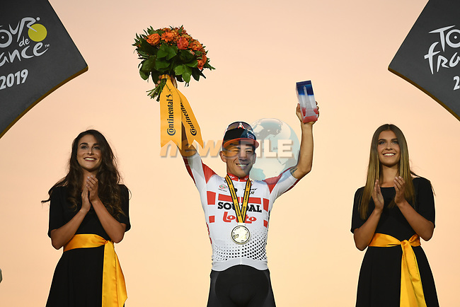 Caleb Ewan (AUS) Lotto-Soudal wins Stage 21 of the 2019 Tour de France running 128km from Rambouillet to Paris Champs-Elysees, France. 28th July 2019.<br /> Picture: ASO/Pauline Ballet | Cyclefile<br /> All photos usage must carry mandatory copyright credit (© Cyclefile | ASO/Pauline Ballet)