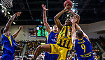 Justin SEARS (#5 MHP Riesen Ludwigsburg) \Karsten TADDA (#9 EWE Baskets Oldenburg) \Rasid MAHALBASIC (#24 EWE Baskets Oldenburg) \Armani MOORE (#4 EWE Baskets Oldenburg) \ beim Spiel, MHP RIESEN Ludwigsburg - EWE Baskets Oldenburg.<br /> <br /> Foto &copy; PIX-Sportfotos *** Foto ist honorarpflichtig! *** Auf Anfrage in hoeherer Qualitaet/Aufloesung. Belegexemplar erbeten. Veroeffentlichung ausschliesslich fuer journalistisch-publizistische Zwecke. For editorial use only.