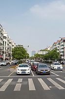 Suzhou, Jiangsu, China.  Street Scene, Traffic.