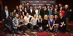 """John Behlmann, Julie Halston, Sarah Stiles, Santino Fontana, Lilli Cooper, Andy Grotelueschen, Michael McGrath and Reg Rogers with the cast and creative team attend the Cast Meet & Greet for Broadway's """"Tootsie"""" The Musical at the New York Mariott Marquis Hotel on March 13, 2019 in New York City."""