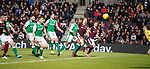 09.05.2018 Hearts v Hibs:  Steven Naismith's header ends up in the net