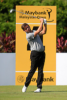 Robert Rock (ENG) on the 4th tee during Round 3 of the Maybank Malaysian Open at the Kuala Lumpur Golf & Country Club on Saturday 7th February 2015.<br /> Picture:  Thos Caffrey / www.golffile.ie