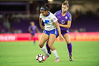 Orlando, FL - Saturday September 02, 2017: Margaret Purce, Steph Catley during a regular season National Women's Soccer League (NWSL) match between the Orlando Pride and the Boston Breakers at Orlando City Stadium.