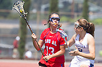 Torrance, CA 05/11/13 - Bailey Brannon (Los Alamitos #13) and Audrey Schimmel (Agoura #2) during the 2013 Los Angeles/Orange County Championship game between Los Alamitos and Agoura.  Los Alamitos defeated Agoura 19-4.