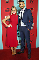 HOLLYWOOD, LOS ANGELES, CA, USA - OCTOBER 05: Becca Tobin, Jacob Artist arrive at the Los Angeles Premiere Screening Of FX's 'American Horror Story: Freak Show' held at the TCL Chinese Theatre on October 5, 2014 in Hollywood, Los Angeles, California, United States. (Photo by Celebrity Monitor)