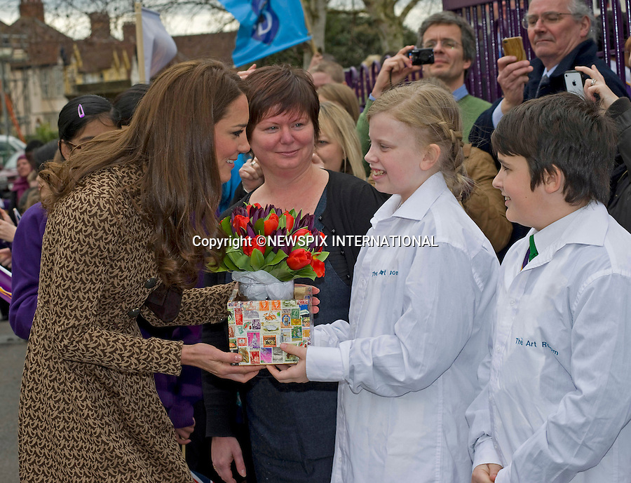 "CATHERINE, DUCHESS OF CAMBRIDGE .as Patron of Art Room visits the Oxford Spires Academy School, Oxford_21/02/2012.MANDATORY PHOTO CREDIT:©FRANCIS DIAS - NEWSPIX INTERNATIONAL..Mandatory credit photo:NEWSPIX INTERNATIONAL(Failure to credit will incur a surcharge of 100% of reproduction fees)..**ALL FEES PAYABLE TO: ""NEWSPIX  INTERNATIONAL""**..Newspix International, 31 Chinnery Hill, Bishop's Stortford, ENGLAND CM23 3PS.Tel:+441279 324672.Fax: +441279656877.Mobile:  07775681153.e-mail: info@newspixinternational.co.uk"