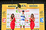 Elie Gesbert (FRA) Fortuneo-Oscaro wins the day's combativity award at the end of Stage 10 of the 104th edition of the Tour de France 2017, running 178km from Perigueux to Bergerac, France. 11th July 2017.<br /> Picture: ASO/Alex Broadway | Cyclefile<br /> <br /> <br /> All photos usage must carry mandatory copyright credit (&copy; Cyclefile | ASO/Alex Broadway)