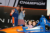 Champion Scott Dixon, Chip Ganassi Racing Honda, wife Emma and Kids Tilly and Poppy
