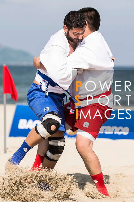 Mongolia vs Lebanon during the Sambo competition on Day Nine of the 5th Asian Beach Games 2016 at Bien Dong Park on 02 October 2016, in Danang, Vietnam. Photo by Marcio Machado / Power Sport Images